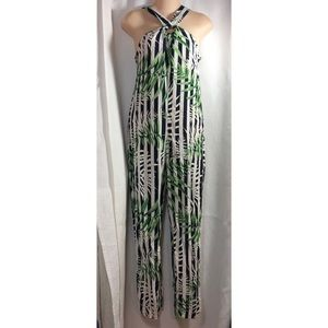 New Zara leaves jumpsuit xs